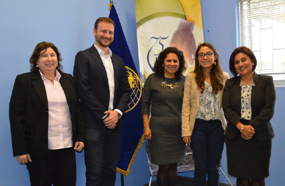 In the photo, from der. to left: Angelica Fort, FASERT's Technical Coordinator, Paul Winkel, PowerMundo's CEO; María Febres, Representative in Charge of IICA Peru; Silvana Rebaza, Economic Development Officer of UK in Peru - British Embassy in Lima, and Ana Moreno, EnDev Peru's Director